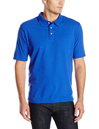 Hanes Men's X-Temp Performance Polo, Deep Royal, Small (Slave Shirt)