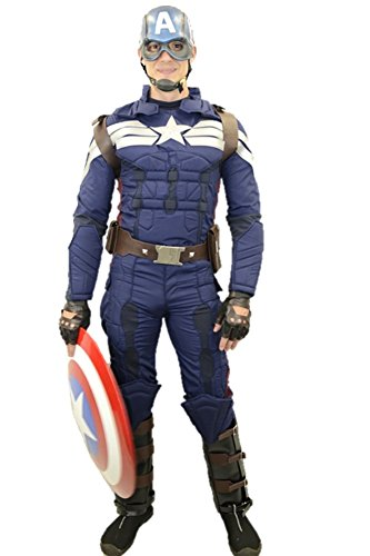 Captain America Full Costume Winter Soldier with Accessories (S) -