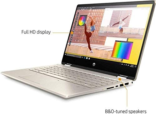 2020 HP Pavilion x360 2-in-1 Laptop Computer/ 14″ Full HD Touchscreen/ 10th Gen Intel Core i5-10210U Up to 4.1GHz/ 8GB DDR4 Memory/ 256GB PCIe SSD + 16GB Optane/ AC WiFi/ HDMI/ Gold/ Windows 10 41dr 0O 2BxeL