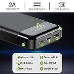 Veger W2016 LCD Display 20000 mAh Li Polymer Power Bank (Black)