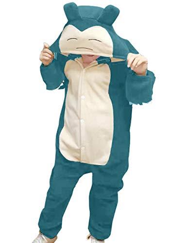 vavalad Adult Snorlax Onesies Pajamas Cosplay Animal Homewear Sleepwear Jumpsuit Costume Women Men, S-Height 4