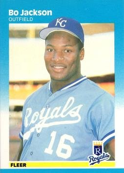1987 Fleer Baseball 369 Bo Jackson Rookie Card