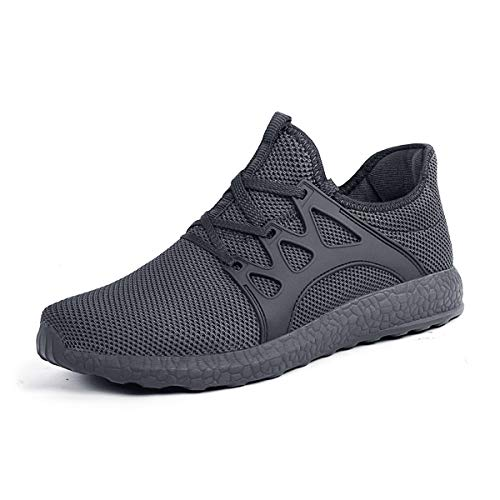 SouthBrothers Men's Sneakers Ultra Lightweight Breathable Athletic Running Shoes Grey/Grey 9