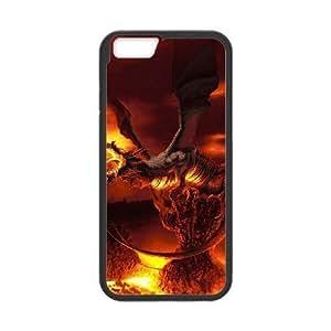 Diy Fire Dragon Phone Case for iphone 6 Plus (5.5 inch) Black Shell Phone JFLIFE(TM) [Pattern-1] hjbrhga1544