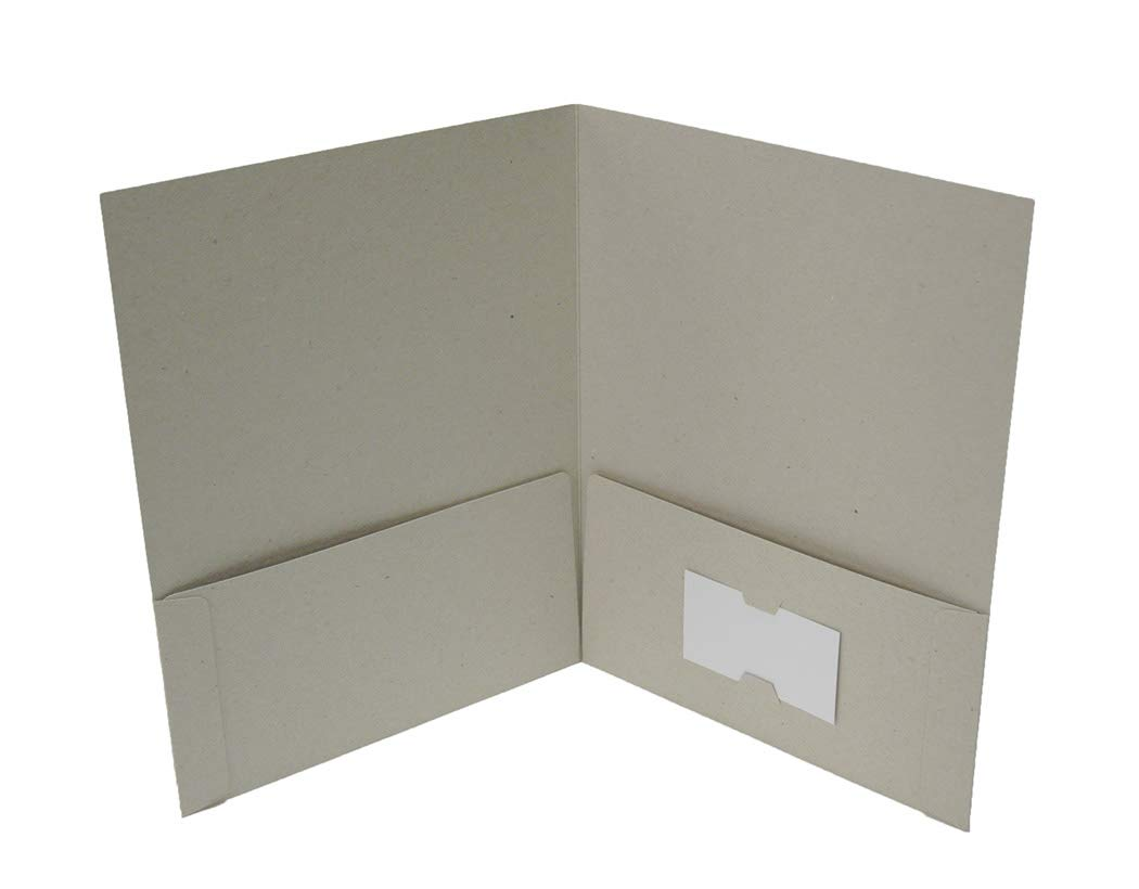 Naked Binder: 2-Pocket Folder, Recycled Chipboard, 100% Recyclable, Eco-Friendly. Accommodates up to 8.5'' x 11'' Documents. Holds Approximately 25 Sheets in Each Pocket. Sold in Sets of 25 Folders. by Naked Binder