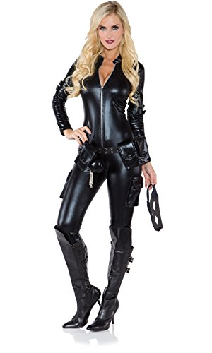 Underwraps Costumes Women's Sexy Thief Costume, Black, Large