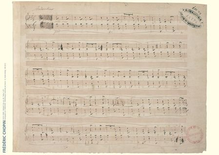 Chopin Music Manuscript Poster: Ballade in F Major, Op. 38 for ()