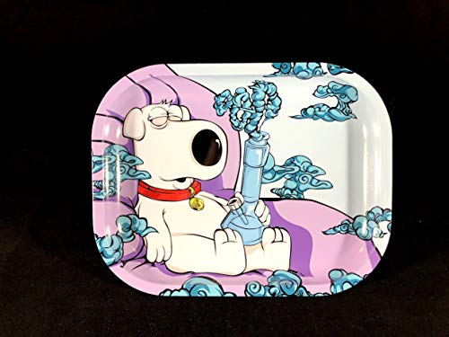 "Brian Griffin Family Guy Tobacco Rolling Tray 5.5""x7"""