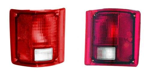Go-Parts PAIR/SET OE Replacement for 1988-1991 Chevrolet (Chevy) Pickup Tail Lights Rear Lamps Assemblies - Left & Right (Driver & Passenger) GM2808111 GM2809111 5965775 -
