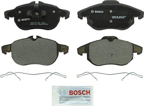 Bosch BP972 QuietCast Premium Semi-Metallic Disc Brake Pad Set For Saab: 2003-2011 9-3, 2010-2011 9-3X; Front (2006 Saab 9 3 Brake Rotor Size)