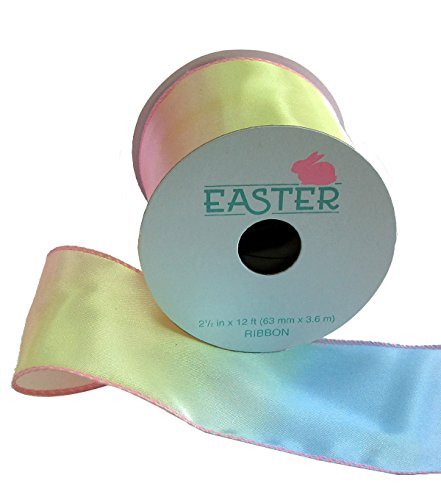 12' Dinner Candles - Easter Ribbon 2.5' 'x 12' Ombre Pastel