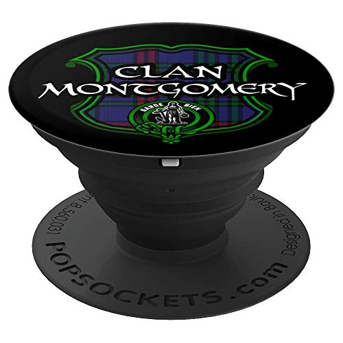 Montgomery Surname Scottish Clan Tartan Crest Badge - PopSockets Grip and Stand for Phones and Tablets