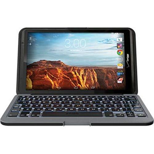 ZAGG Folio Case with Backlit Keyboard for 2016 Verizon Ellipsis 8 Tablet - Black