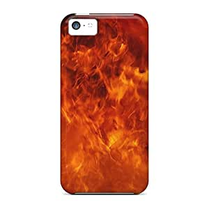 Premium Flame Inferno Back Cover Snap On Case For Iphone 5c