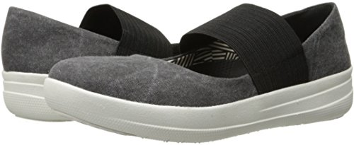 FitFlop Women's F-Sporty Mary Jane Flat, Black, 8.5 M US by FitFlop (Image #6)
