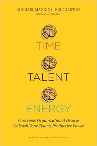 Time Talent Energy Overcome Organizational Drag and Unleash Your Team146s Productive Power
