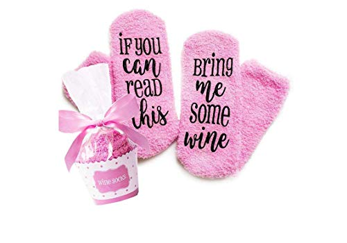 Valentine's Day Gifts Wine Socks with cupcake Gift Packaging:Christmas,Valentine's Day, Birthday, Stocking Stuffers for Women,Gifts for Mom Her Wine Lover Wife Friends