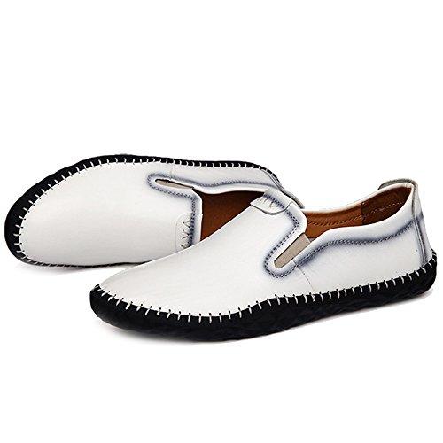 For Planos MERRYHE Boat Plataforma De Negocios Classic Vestido Mocasines Conducción Zapatos De Calzado Formal Shoes White Men UwtfRtq1