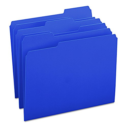 Smead File Folder, 1/3-Cut Tab, Letter Size, Navy, 100 per Box (13193) ()