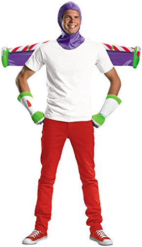 Disguise Men's Disney Pixar Toy Story and Beyond Buzz Lightyear Adult Costume Kit, White/Purple/Green/Red, One (Mens Buzz Lightyear Costumes)