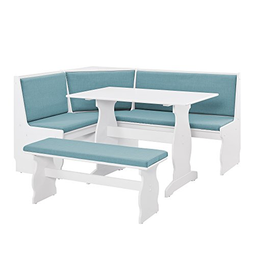 Linon Nook, White (Banquette Dining Sets)