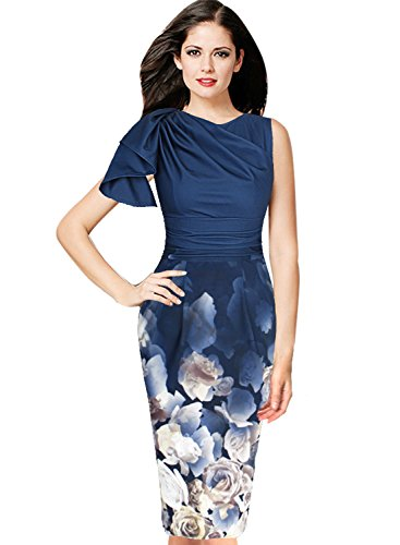 604b350f532427 VfEmage Women s Celebrity Elegant Ruched Wear to Work Party Prom Bodycon  Dress 9308 ...