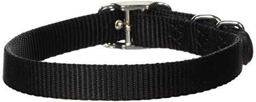 Hamilton 5/8-Inch by 18-Inch Single Thick Nylon Deluxe Dog Collar, Black