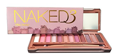 Boskicosmetics Natural Matte Pro Nude 12 Colors Eyeshadow Palette Matte Shimmers Naked 3
