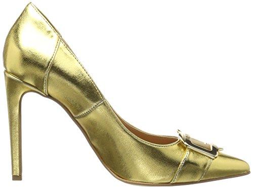 Love Moschino Damen Scarpad.anne100 Laminato PU Oro Pumps Gold (Gold)