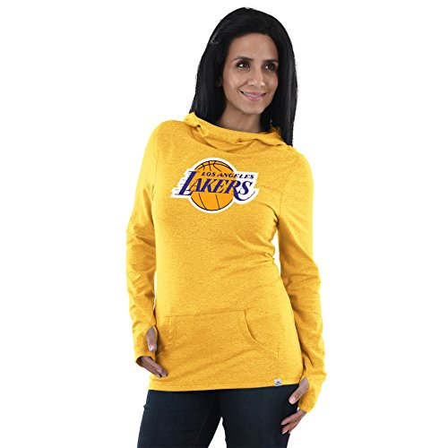 VF Majestic NBA Women's We Play To Win Cowl Neck Hoodie (XX-Large, Los Angeles Lakers)