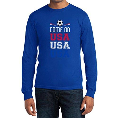Come T Maglietta Mondo Fan Manica Uomo Lunga Coppa On Del Usa shirt Blu 8xa8Ygn