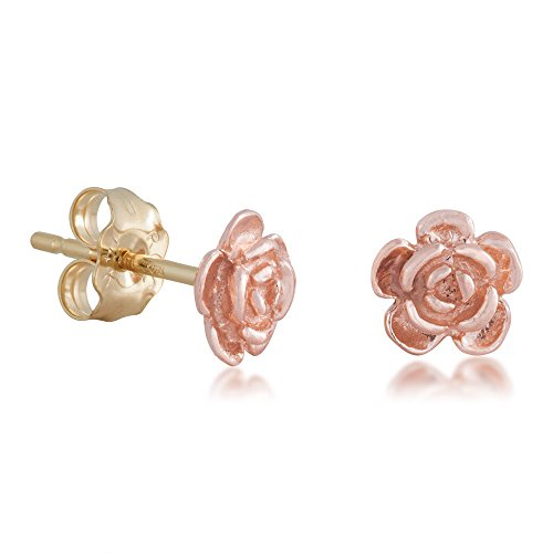 Landstroms Black Hills Gold Rose Earrings 10k Gold ()