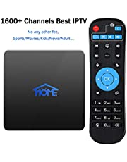 IPTV Receiver Box Over 1600 International Channels From UK FR DE IT ES Europe America Brazil India Arab Asia, Sport Movie Kids Adult Channels No Subscription Fee
