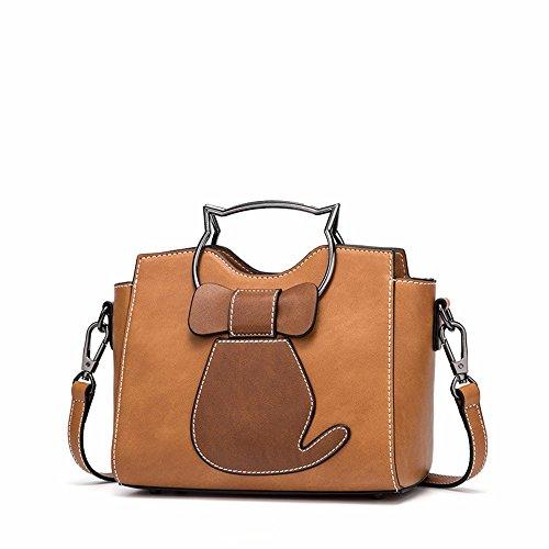 2018 una nuova borsa, moda solo una borsa sulla spalla,gules Color Caramello