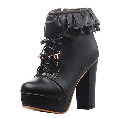 Foot Black Platform Charm Womens Boots Ankle YwqwTpd