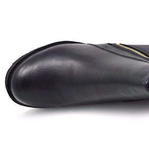 Xelay Damen Biker Boots Schwarz