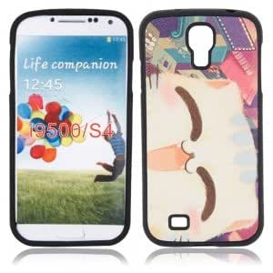 Plastic Protective Case with Smiley Cat Pattern for Samsung i9500