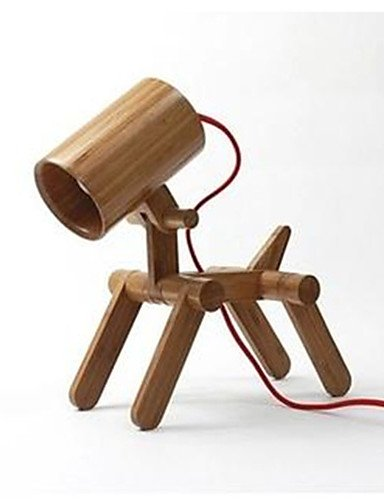 Amazon.com: HJL- el cachorro bambú lámpara luz de lectura ...