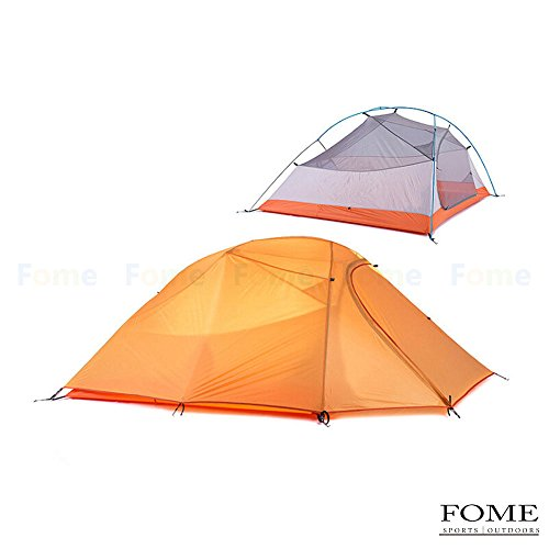 Camping Tent, FOME SPORTS|OUTDOORS 2 Person Double Layer Tent 4 Seasons  Outdoor Ultralight