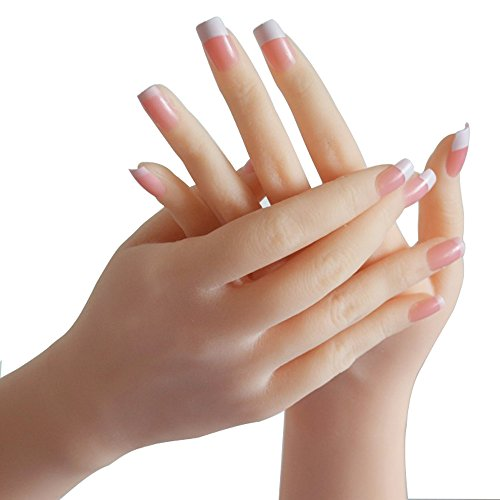 手 マネキン 女性手 模型 実物大 女性 手 腕 模型 爪付き シリコン製 超リアル アクセサリー モデル ハンドマネキン 撮影 ネイル ディスプレイ 促進 (両手)