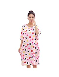 COMI Short Sleeve Nightgown / Sleep Dress for Women / Sleepwear