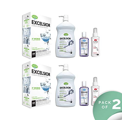 Excelsior HEDISH1LWMGK-U Complete Diswasher Cleaning and Deoderizing Solution (2) by Excelsior