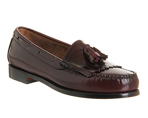 Mens G.H Bass Weejuns Layton Moc Kiltie Loafer Work Office Leather Shoes Burgundy Leather 0uERf