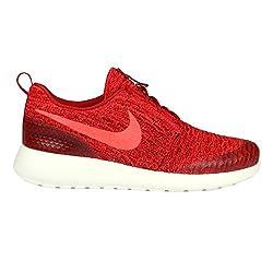 Nike Womens Roshe One Flyknit Running Shoes-gym Redbright Crimson-8