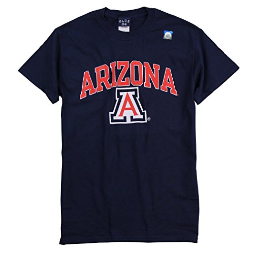 Blue 84 Men's Collegiate 100% Cotton Arch Logo T-Shirt (Arizona Wildcats, X-Large) ()