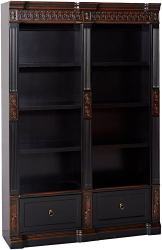Rowan Carved Combination Bookcases Chestnut ()