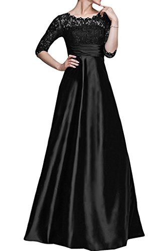 Bride Lace Mother Dresses Women's Sleeves with Black Fanciest the Half Long of qY10x57