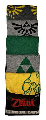 Bioworld The Legend of Zelda 5-Pack Pair of Casual Crew Socks for Men, 43689 from Bioworld
