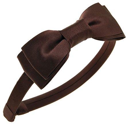 (L. Erickson USA Blair Bow Headband - Dark Roast)