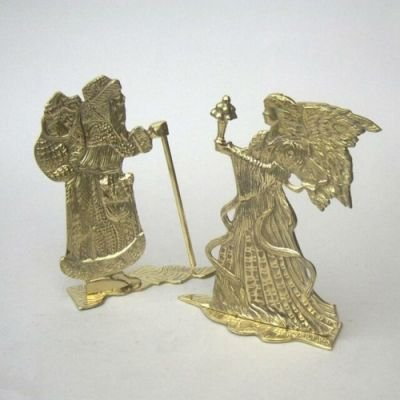 India Overseas Trading Corporation BR3130 - Brass Santa And Angle Set